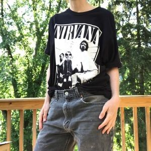 Vintage style Nirvana black band t-shirt 2013